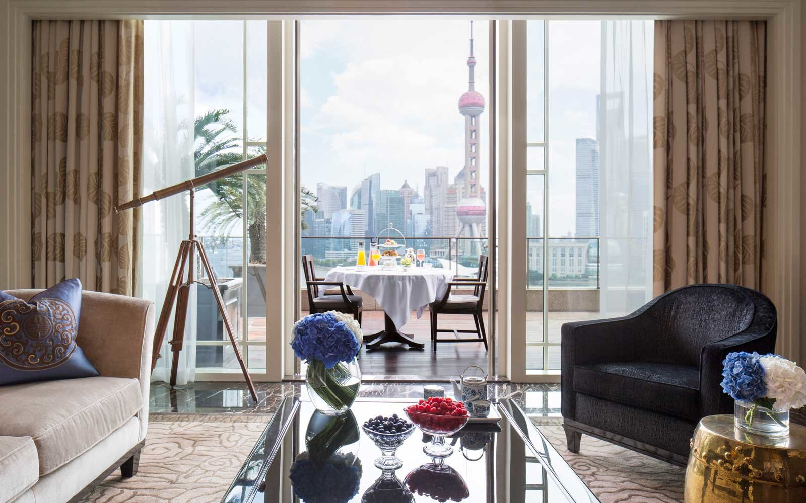 Best Hotels in Shanghai according to Travel + Leisure (pictured: The Peninsula Shanghai)