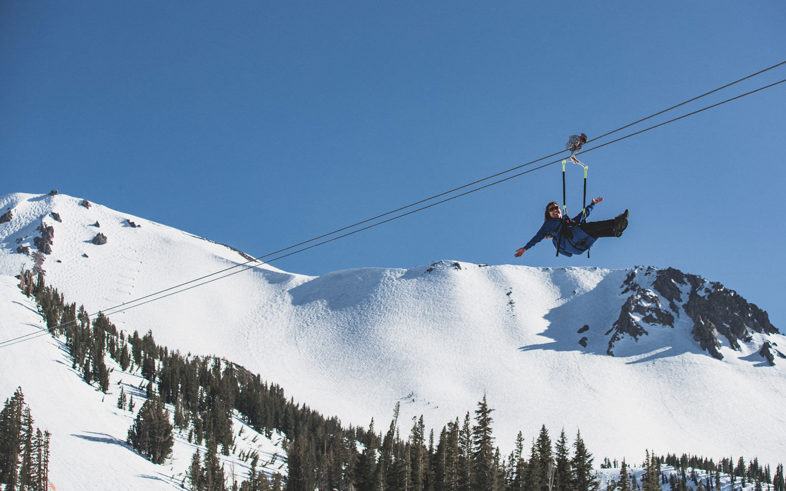 This Zip Line Will Have the Biggest Vertical Drop in the U.S. — Straight Off an 11,000-foot Mountain