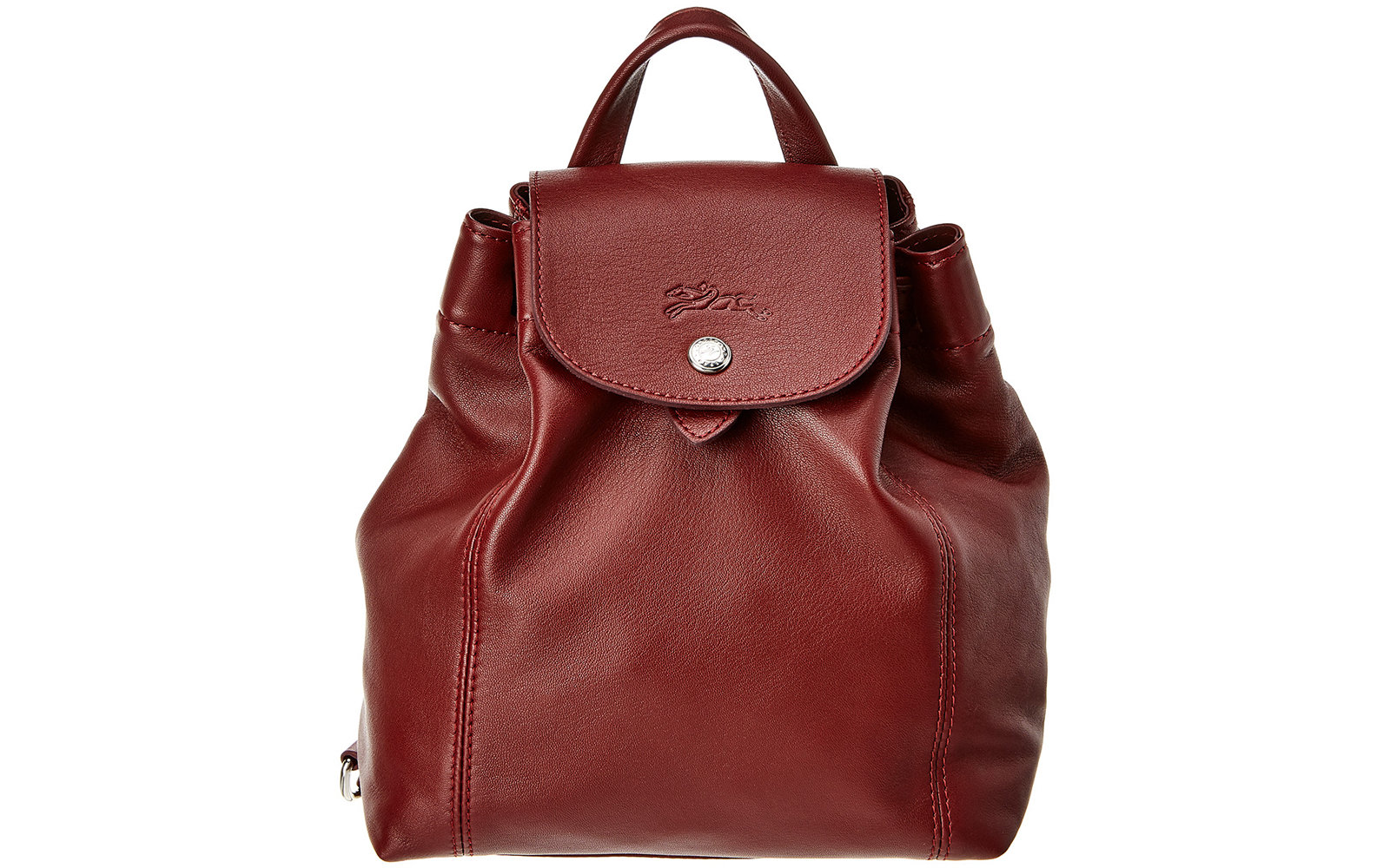 Longchamp Le Pliage Cuir XS Leather Backpack in Red