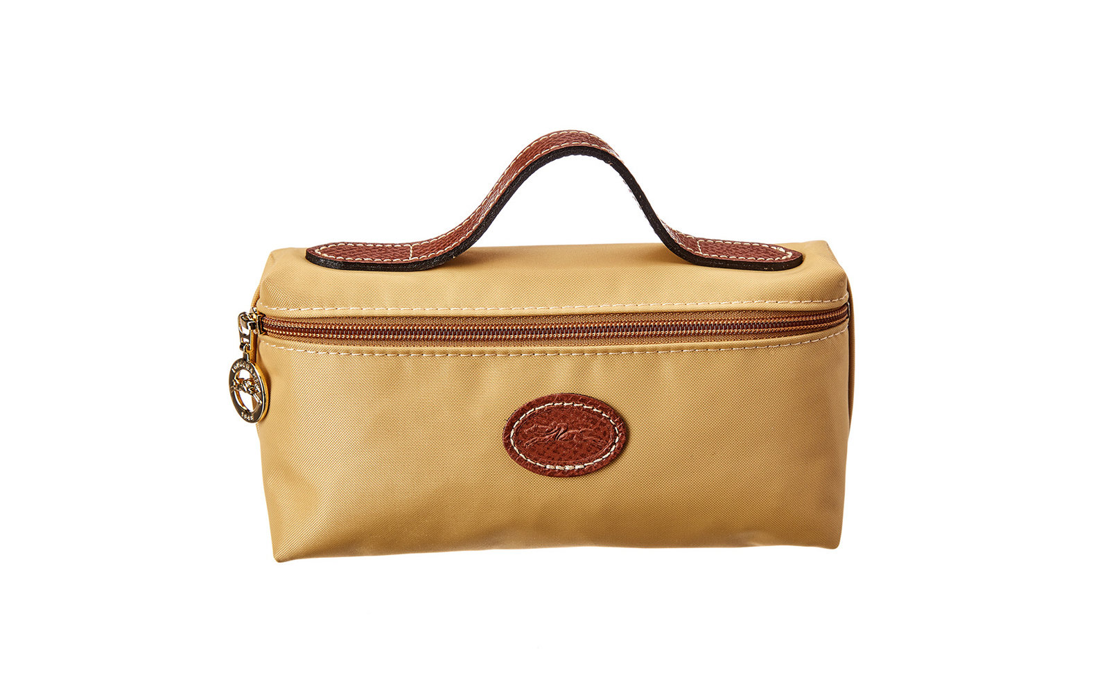 Longchamp Le Pliage Nylon Cosmetic Case in Yellow
