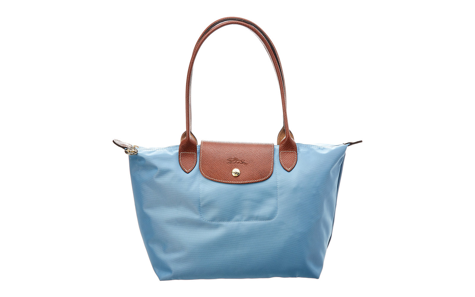 Longchamp Le Pliage Small Nylon Long Handle Tote in Artic