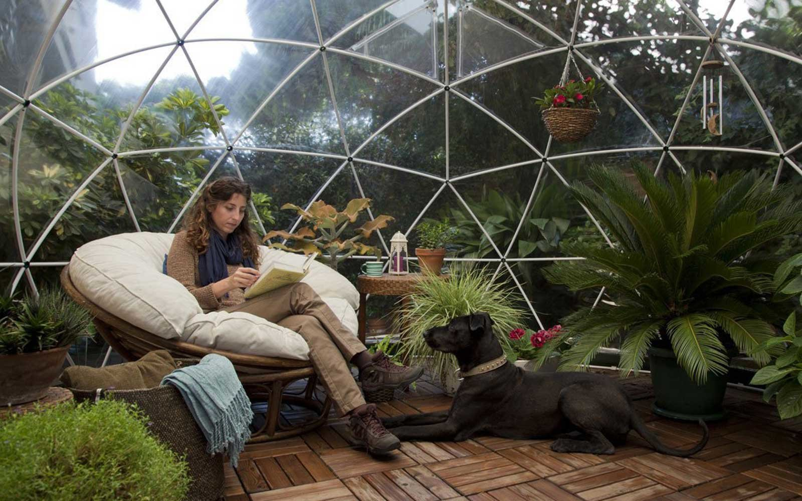 This Stunning Garden Dome Is Perfect for Backyard Glamping, and It's Available on Amazon
