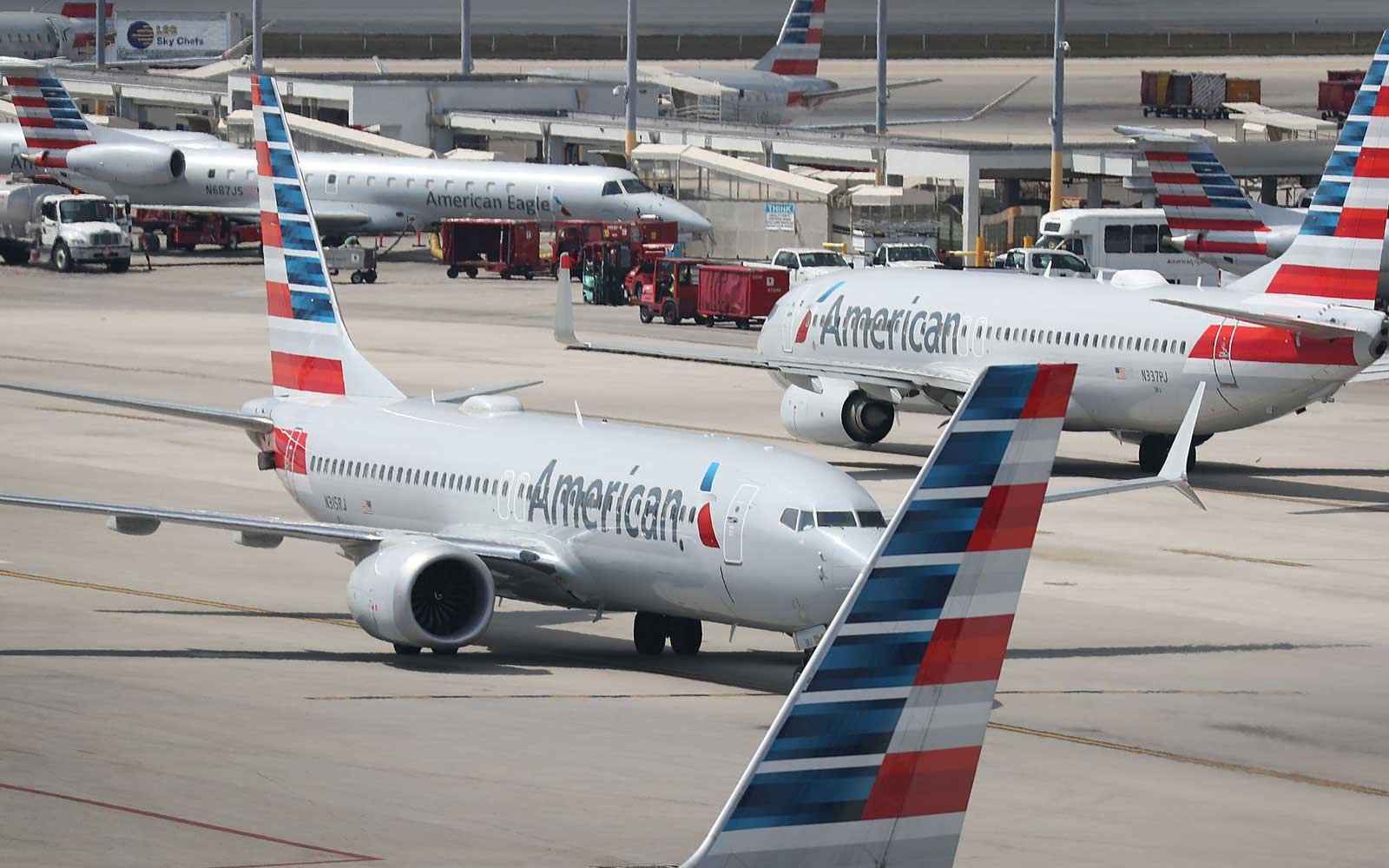 American Airlines Boeing 737 Max 8 planes