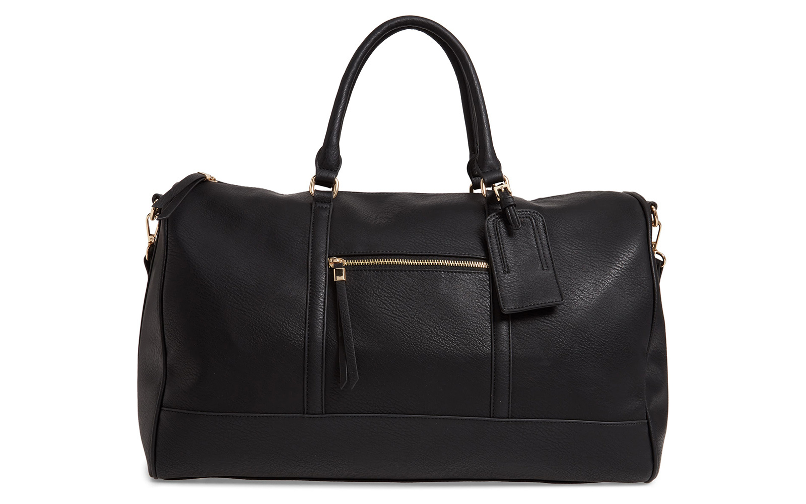Devon Faux Leather Weekend Duffle Bag