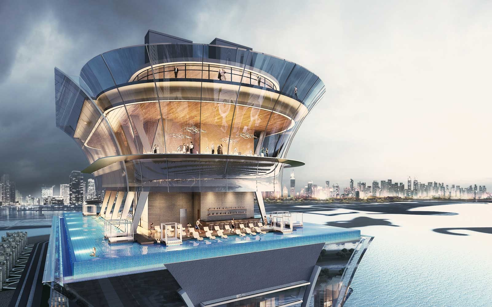The Palm Tower in Dubai's Infinity Pool