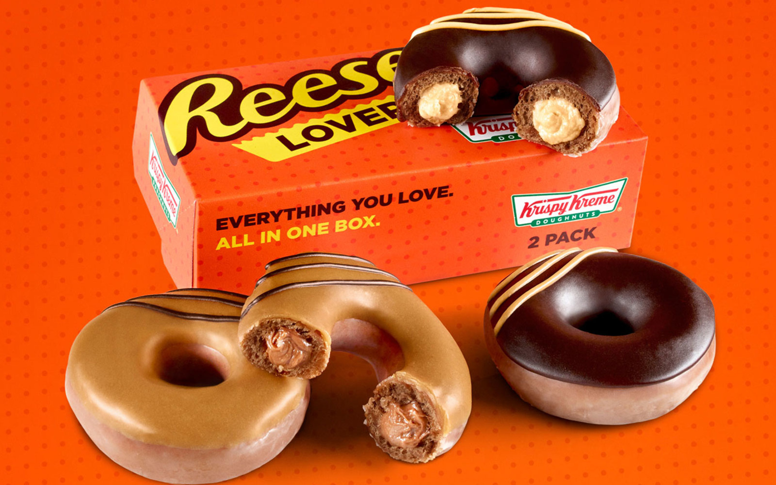 Krispy Kreme Turned Reese's Lovers Cups into Two New Doughnuts