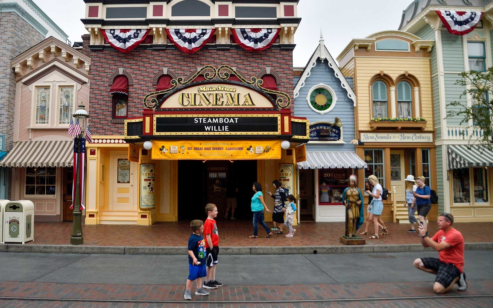Main st. at Disneyland, California