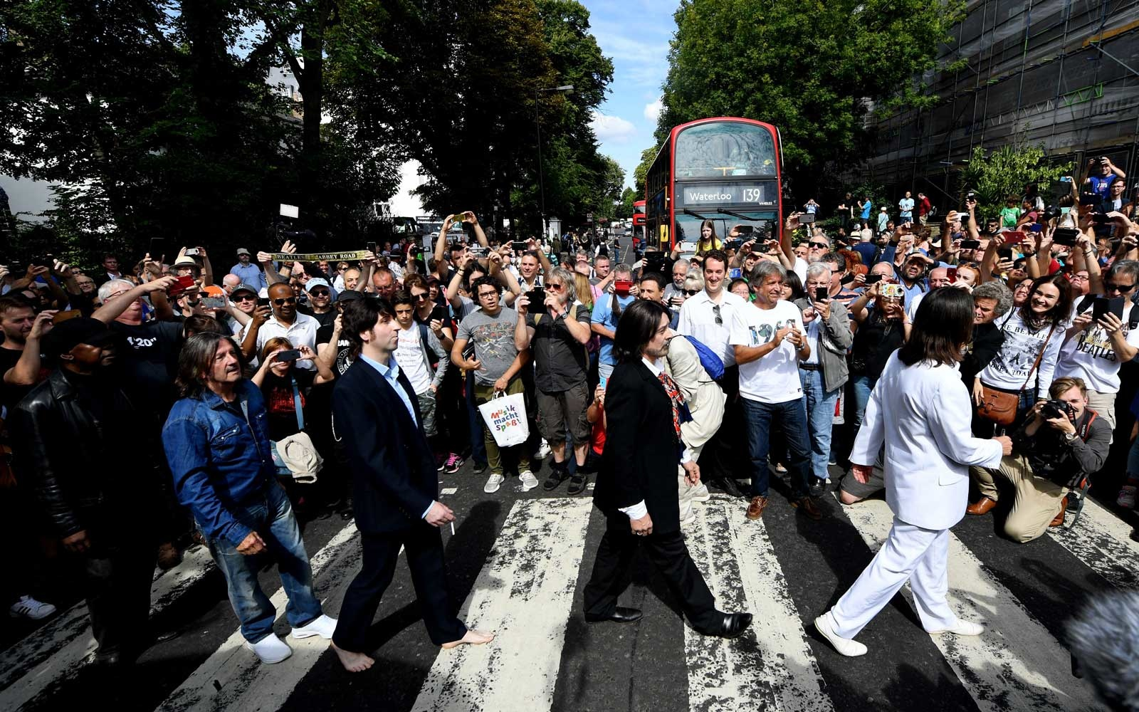 Beatles Fans Celebrate 50 Years of Iconic Abbey Road Photo