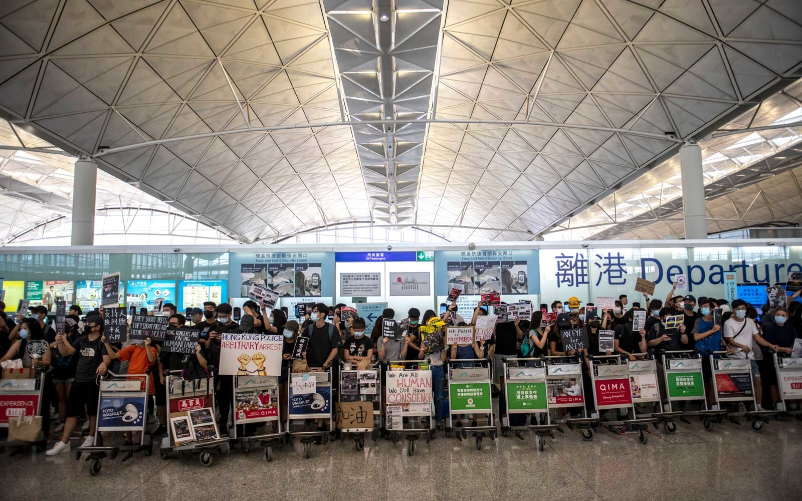 Protester Rally In Hong Kong International Airport