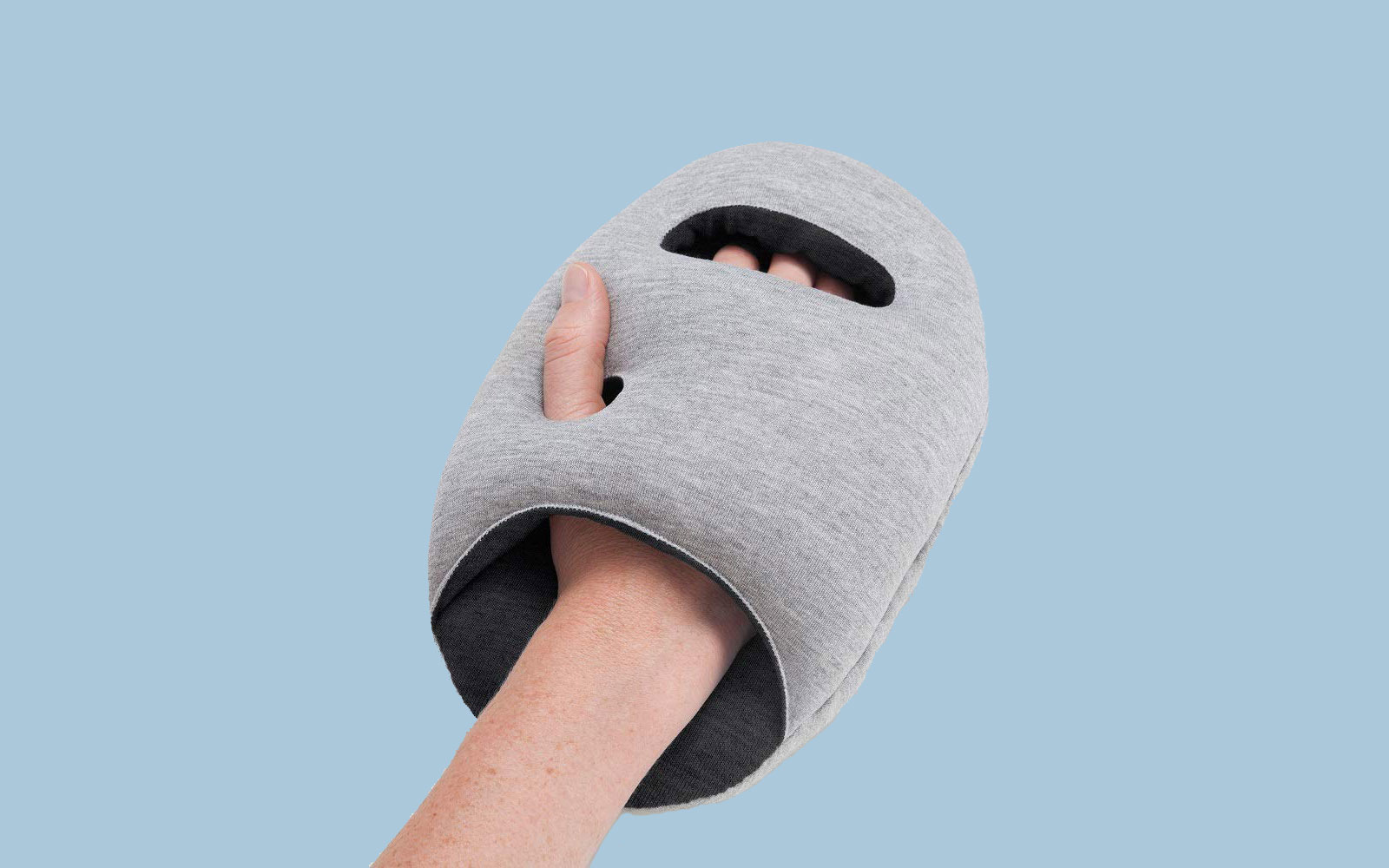 This unique travel pillow makes it possible to fall asleep anywhere