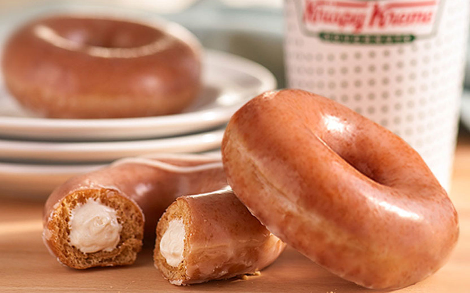 Krispy Kreme just added two pumpkin spice doughnuts to its menu — but only until Sunday