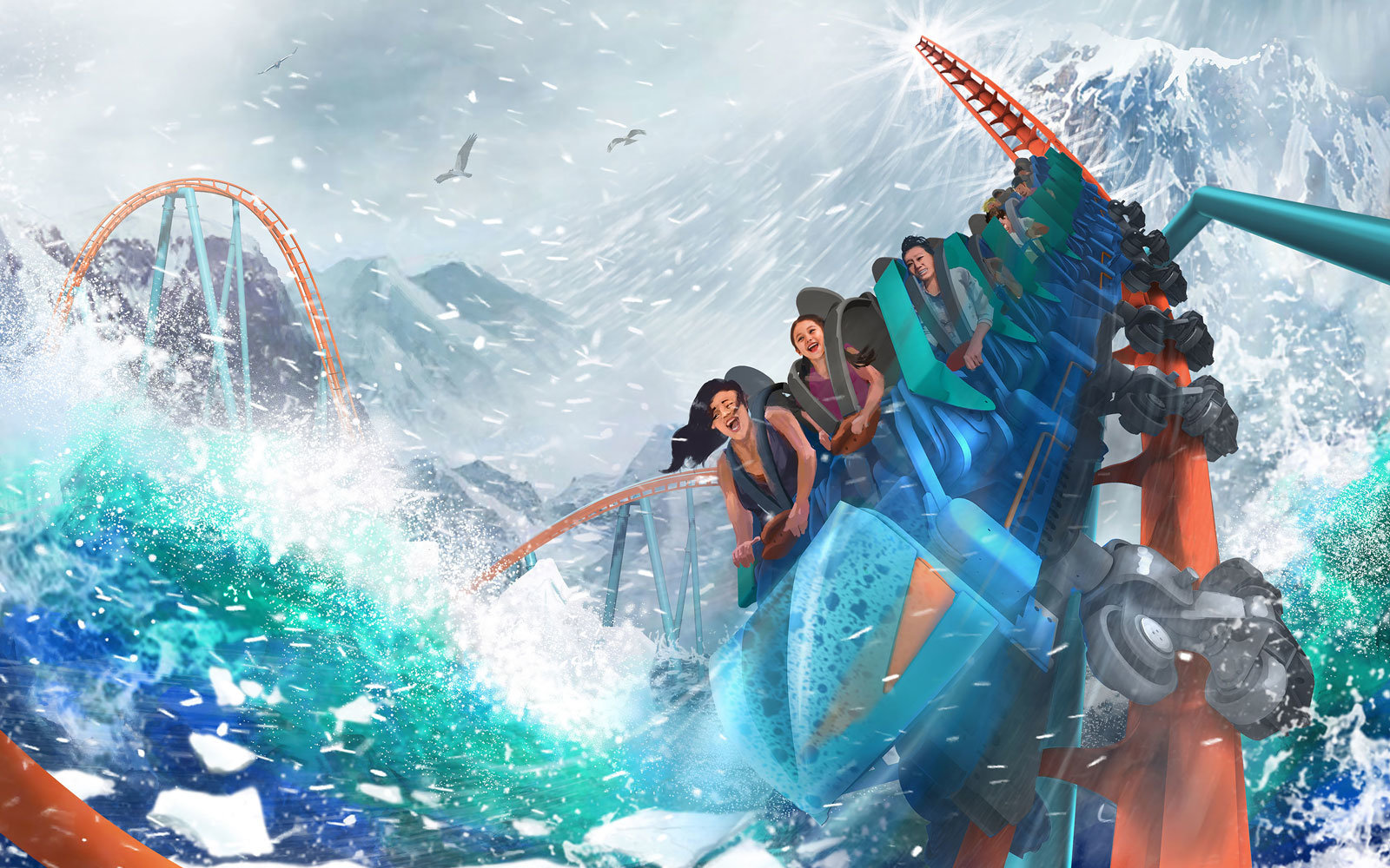 New SeaWorld Rides and Coasters