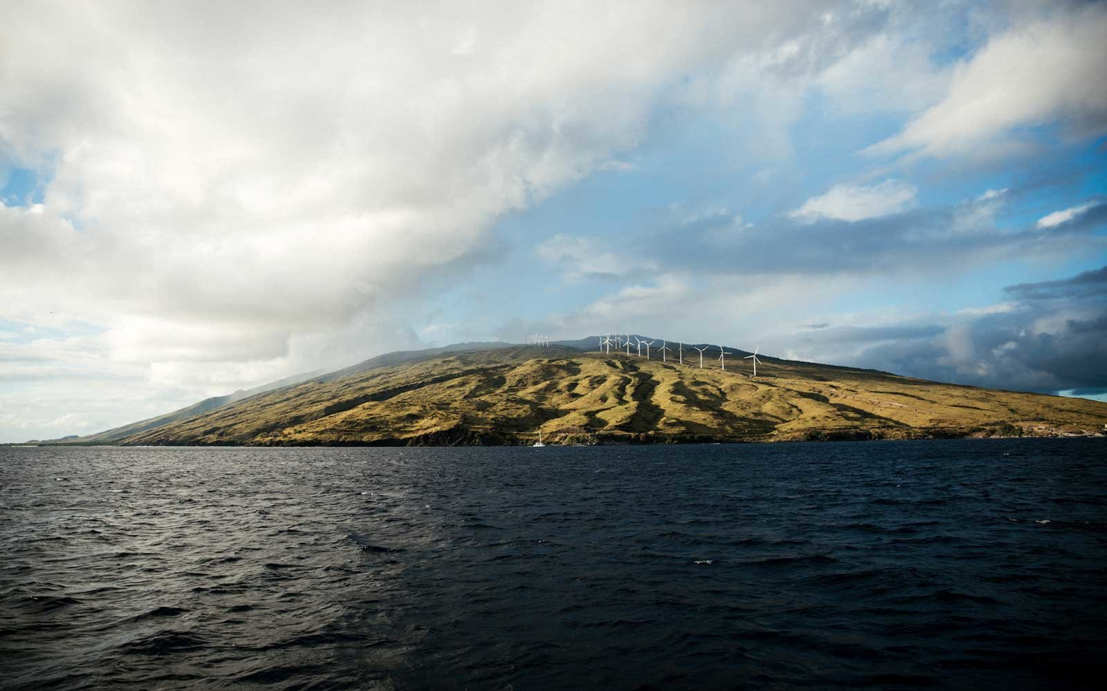 Wind turbine Maui coast