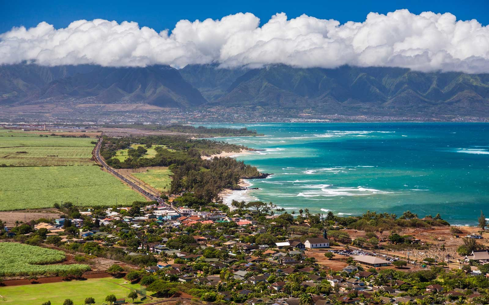 View from Paia toward Kahului