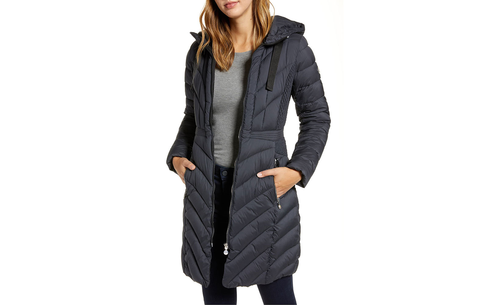 Packable Hooded Walker Coat BERNARDO