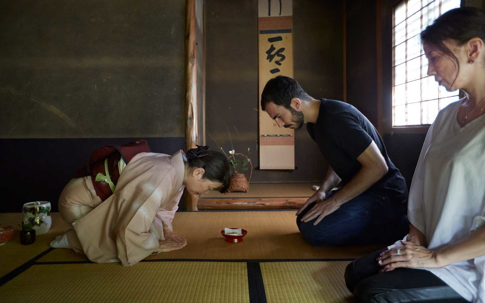 A tea ceremony in Kyoto, Japan.