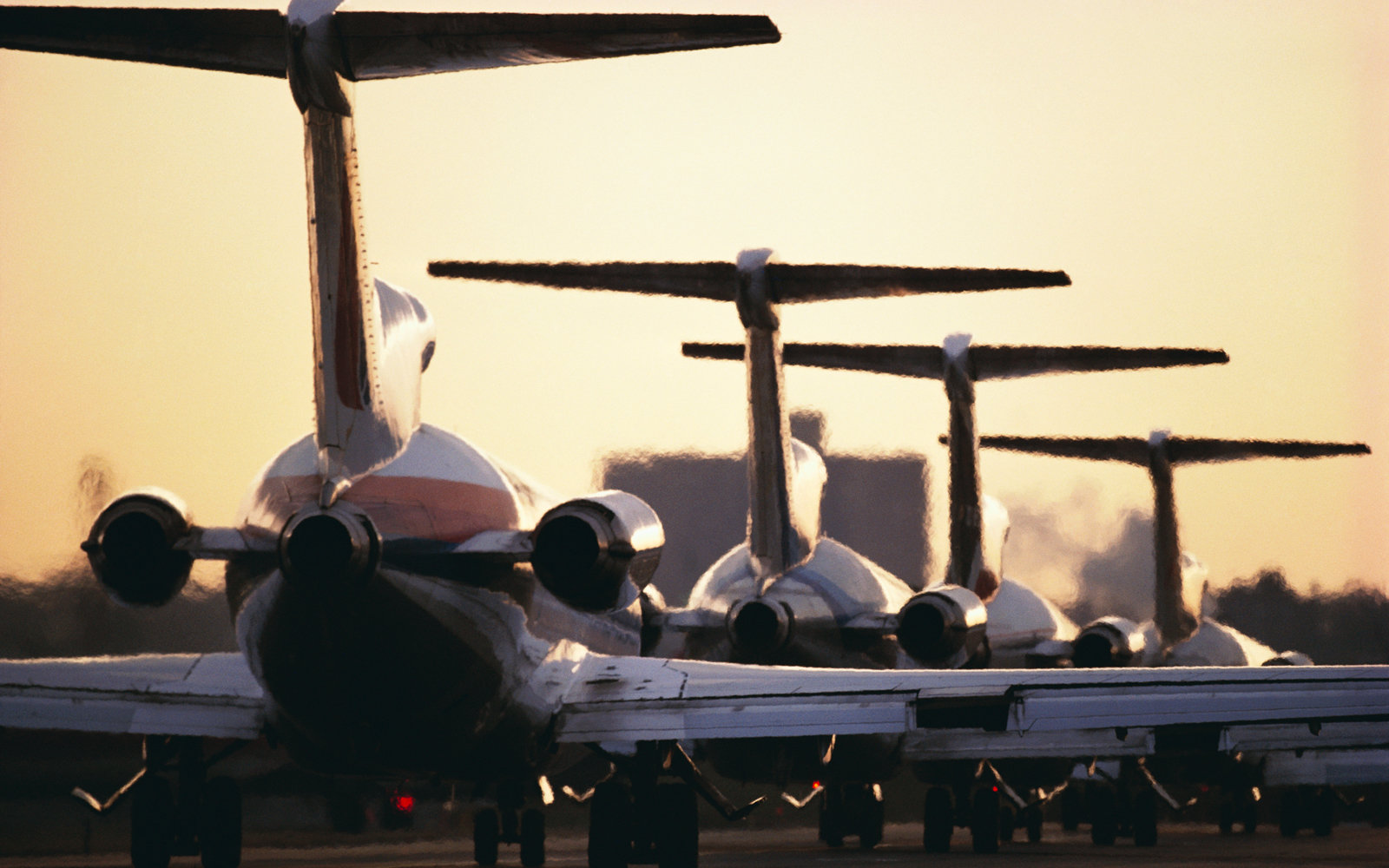 Jets on a runway