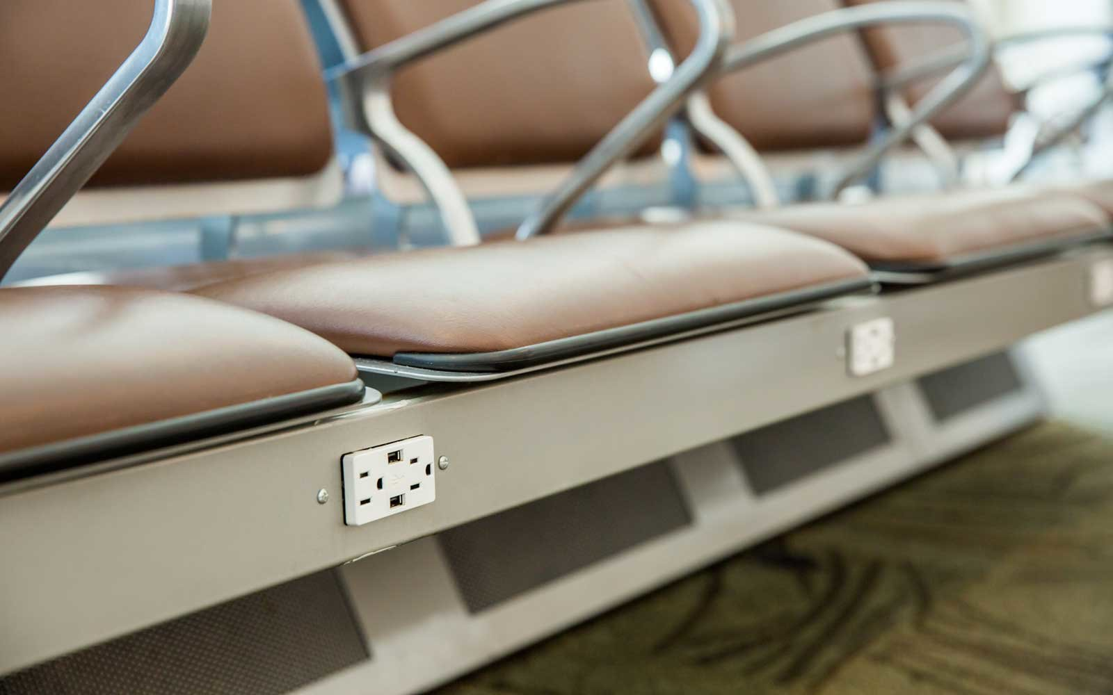 Airport charging outlet