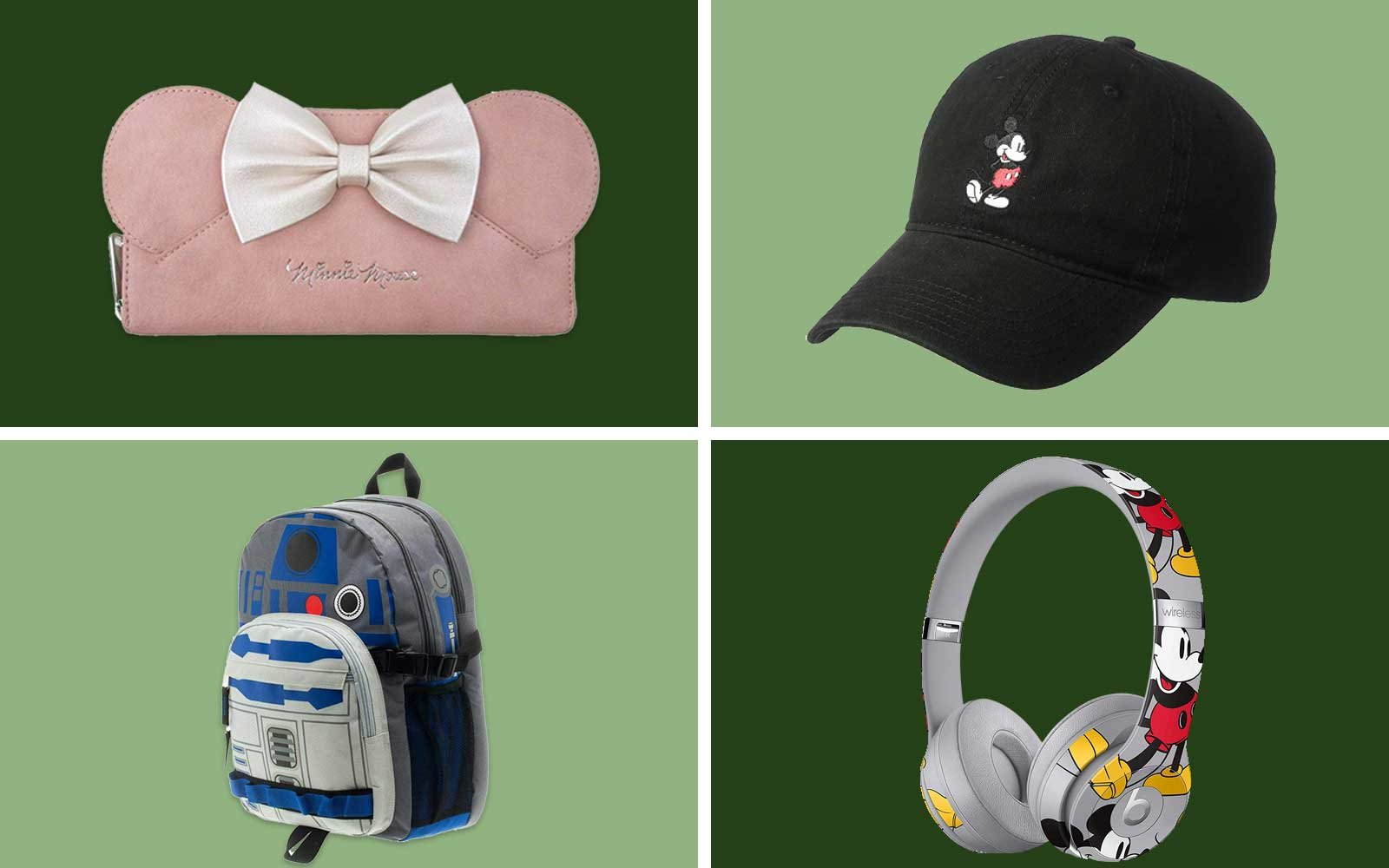 Disney Wallet, Hat, Backpack, Headphones