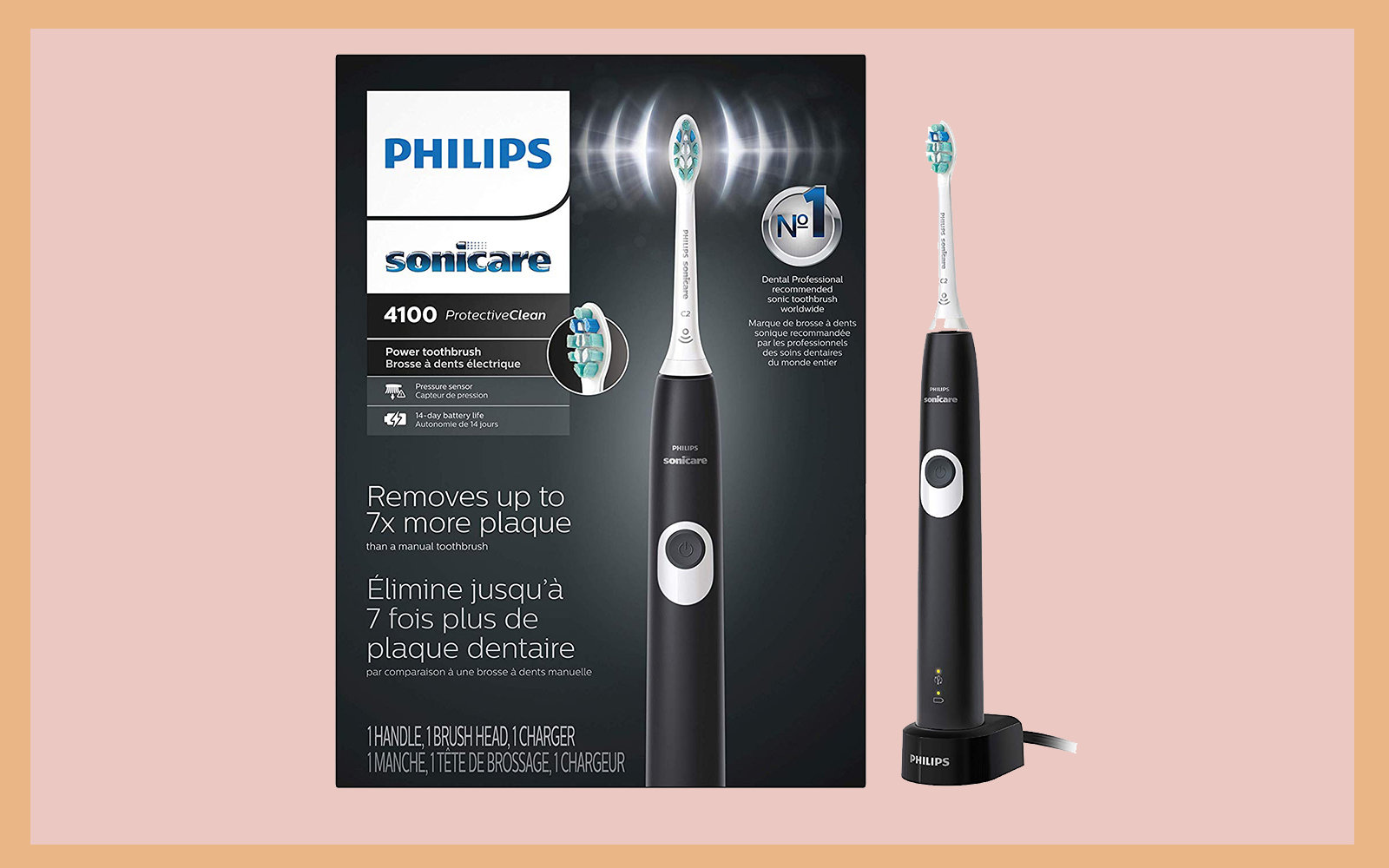 Philips Sonicare ProtectiveClean 4100 Rechargeable Electric Toothbrush
