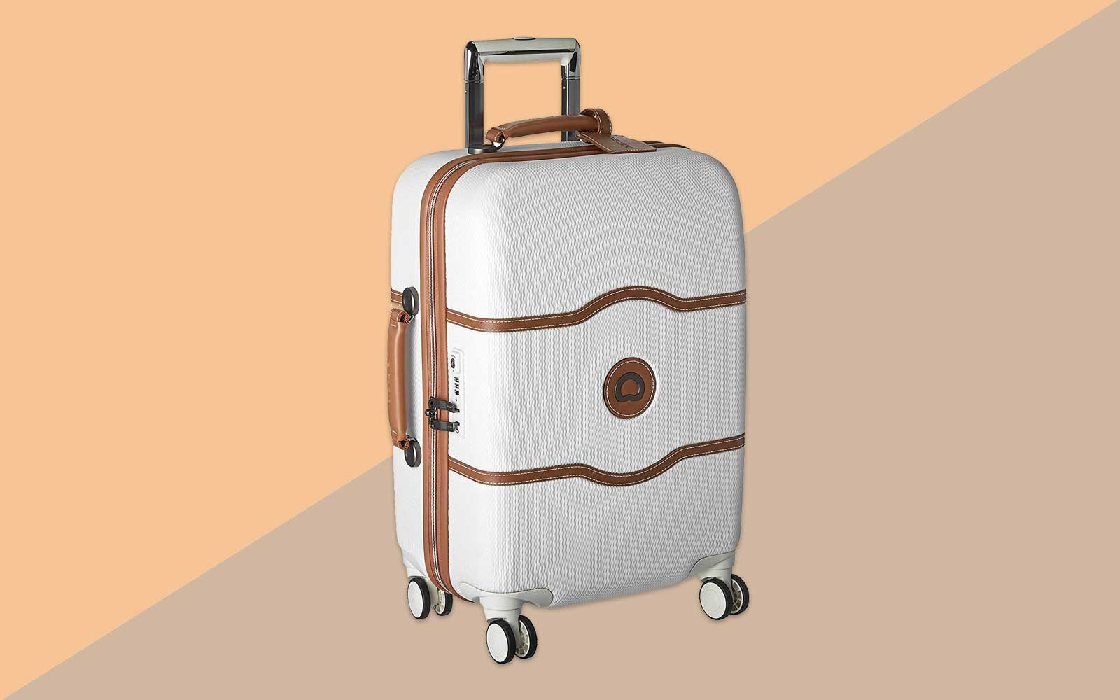 White Hardside Suitcase