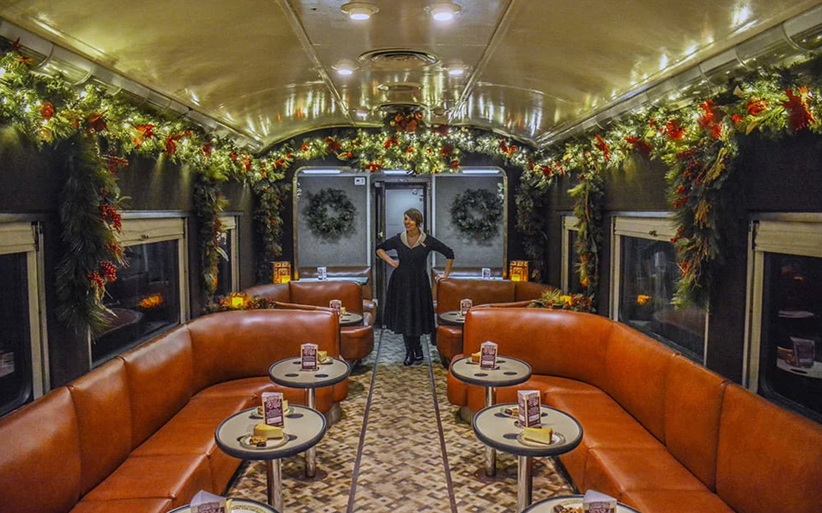 Sip on holiday cocktails and take in Tennessee mountain views on this vintage train ride