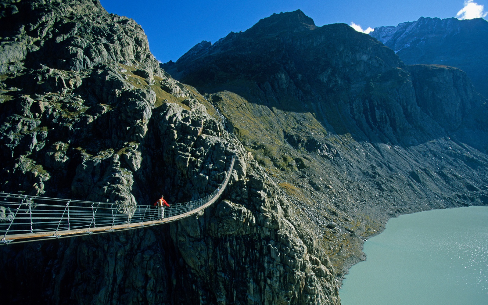 Trift Suspension Bridge, Switzerland