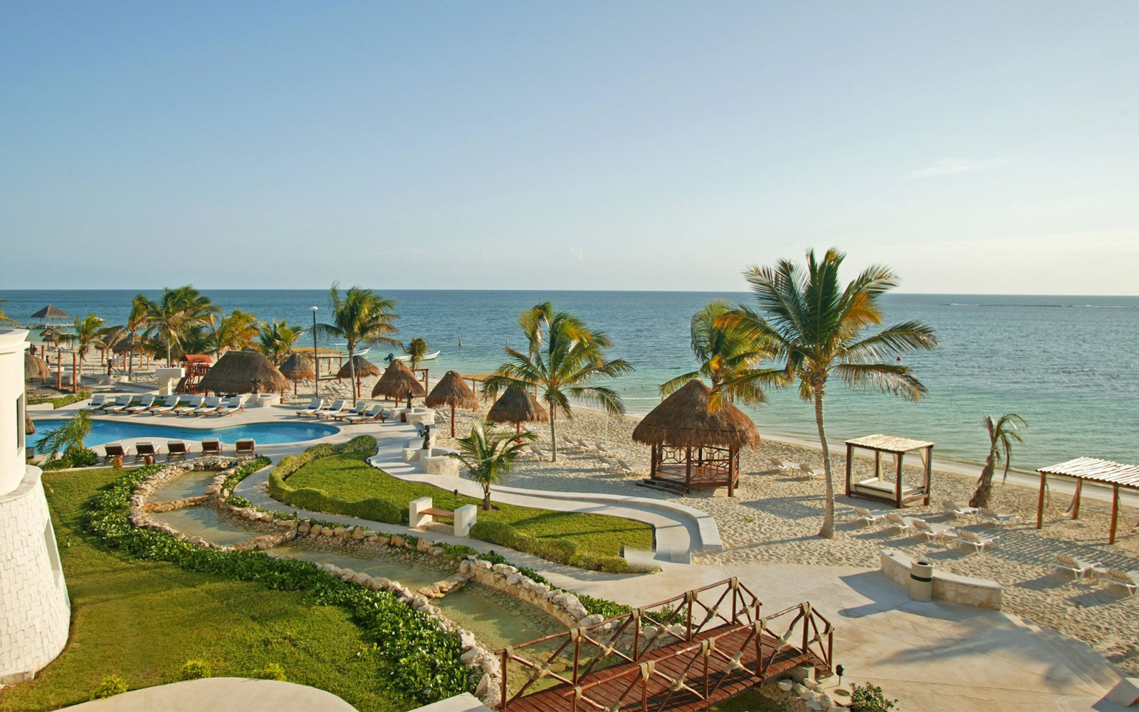 beachside at Azul Beach Hotel in Riviera Maya, Mexico