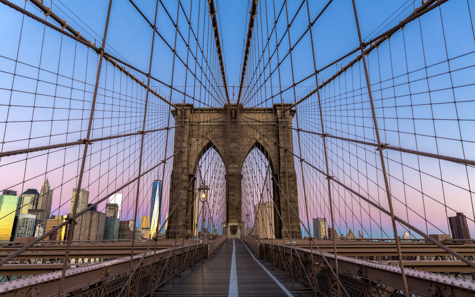 Brooklyn Bridge in New York City, NY