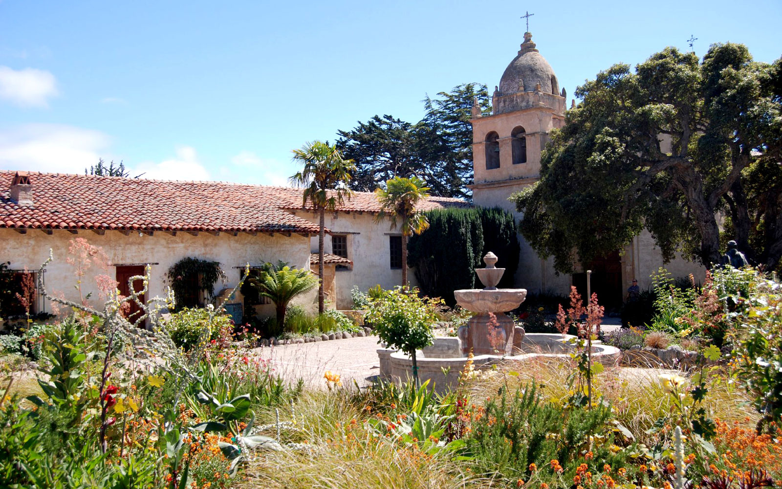Carmel Mission landmark in Carmel, CA