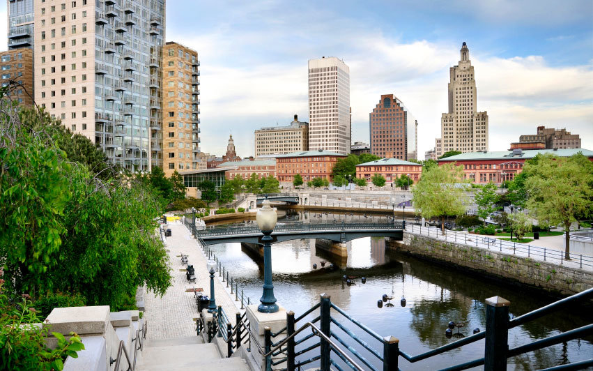 waterfront in downtown Providence, Rhode Island