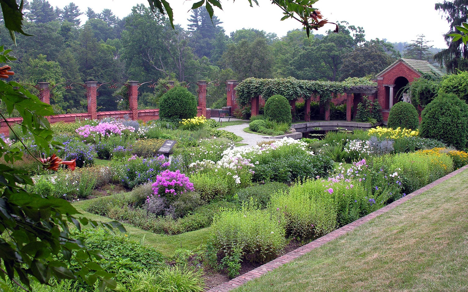 garden at Vanderbilt Mansion on U.S. Route 9, NY