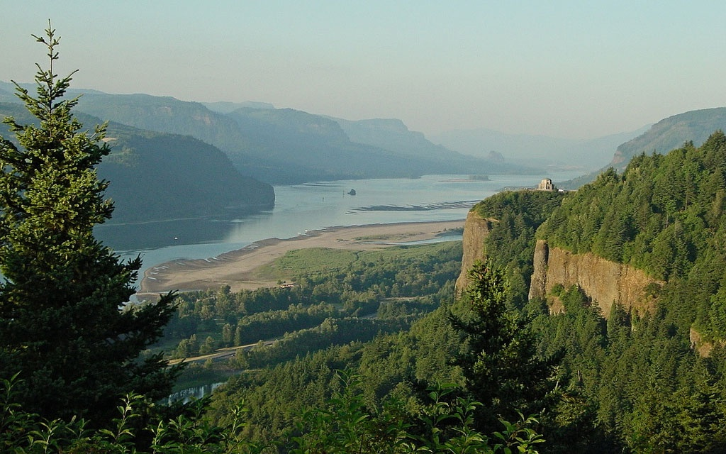 valley at Columbia River Scenic Highway, Oregon
