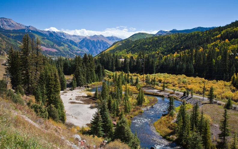 scenic mountian views along San Juan Skyway, Colorado