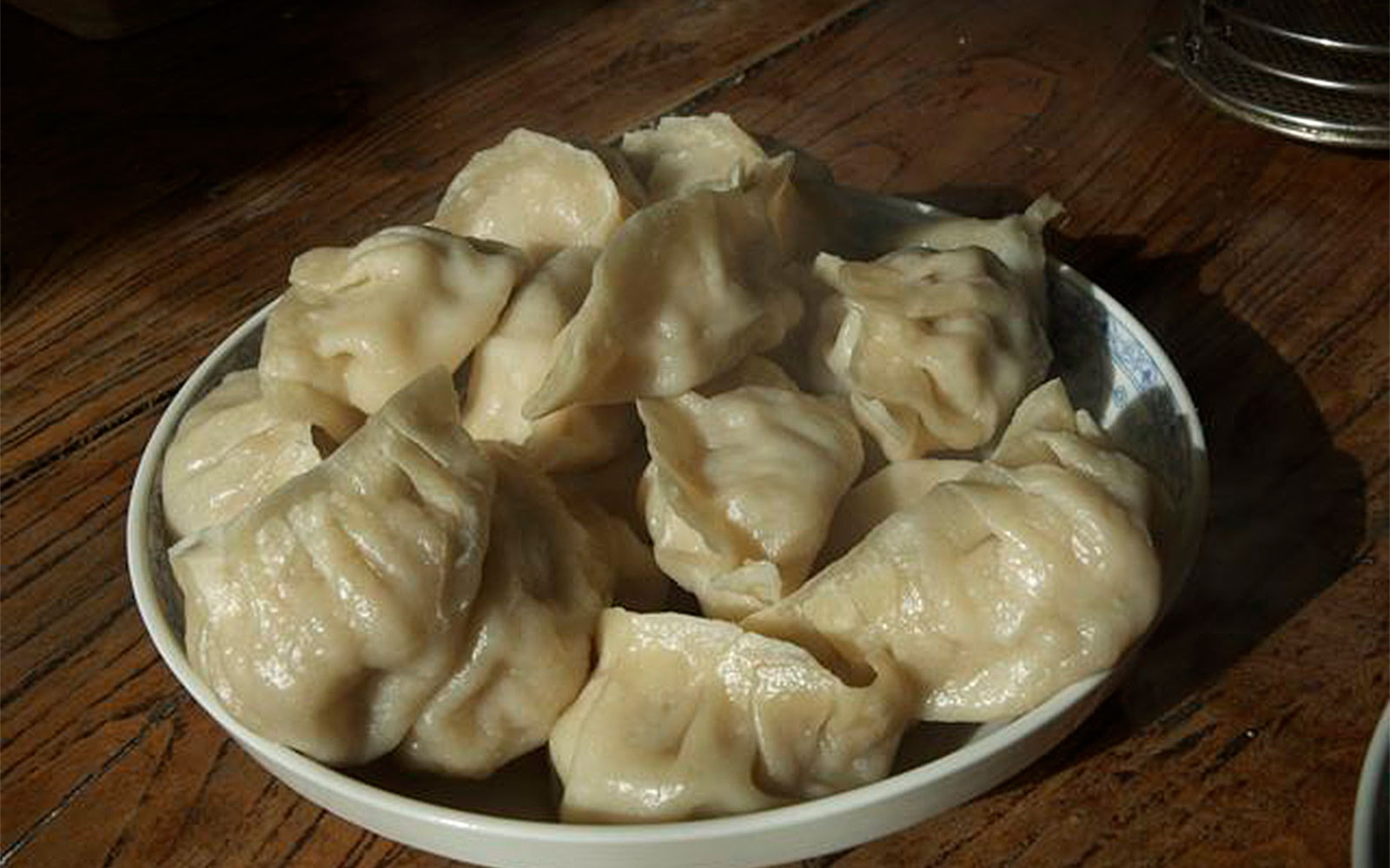 plate of dumplings at Backstreet Beijing culinary school, Beijing