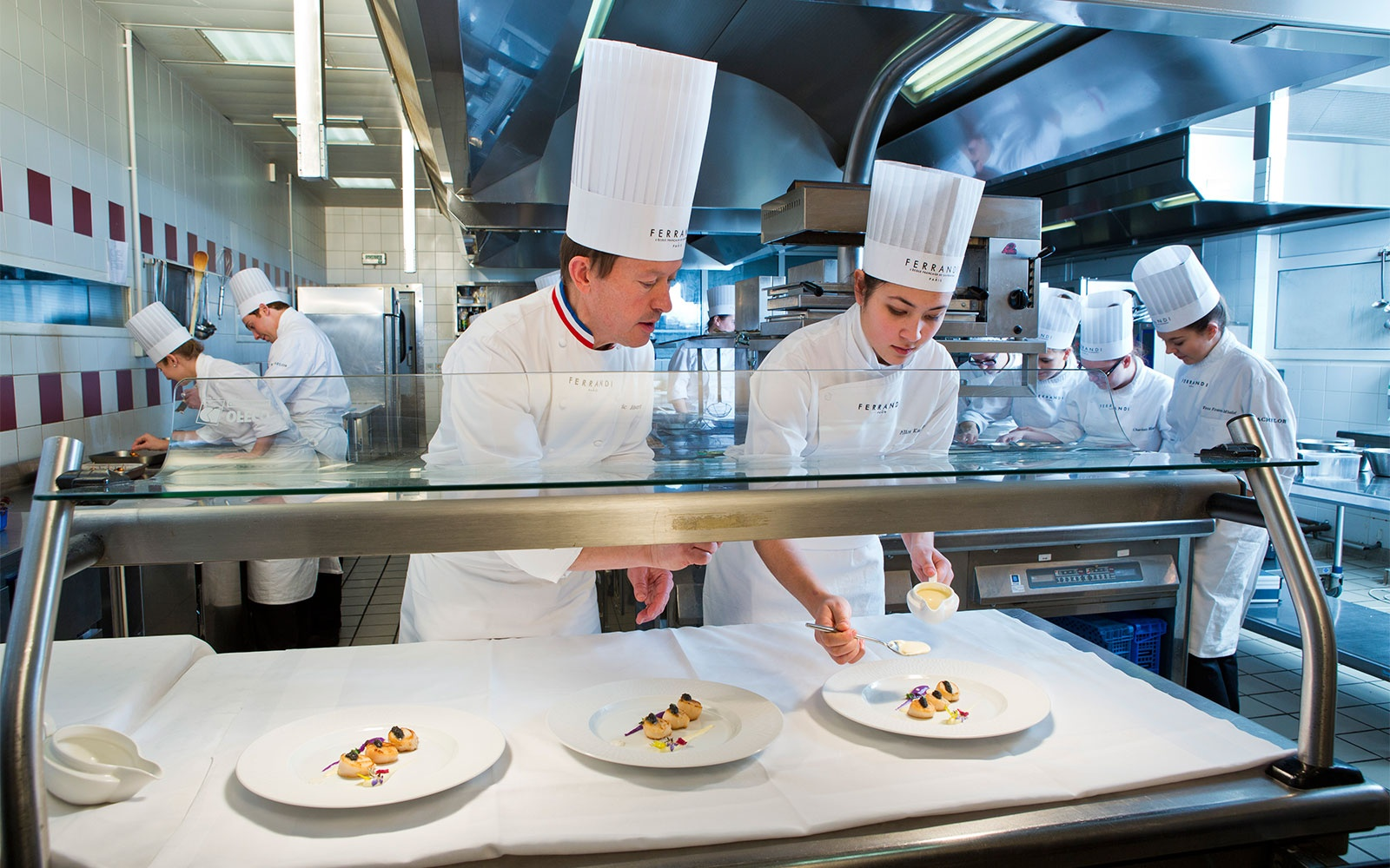 students at Ferrandi-Paris culinary school, Paris