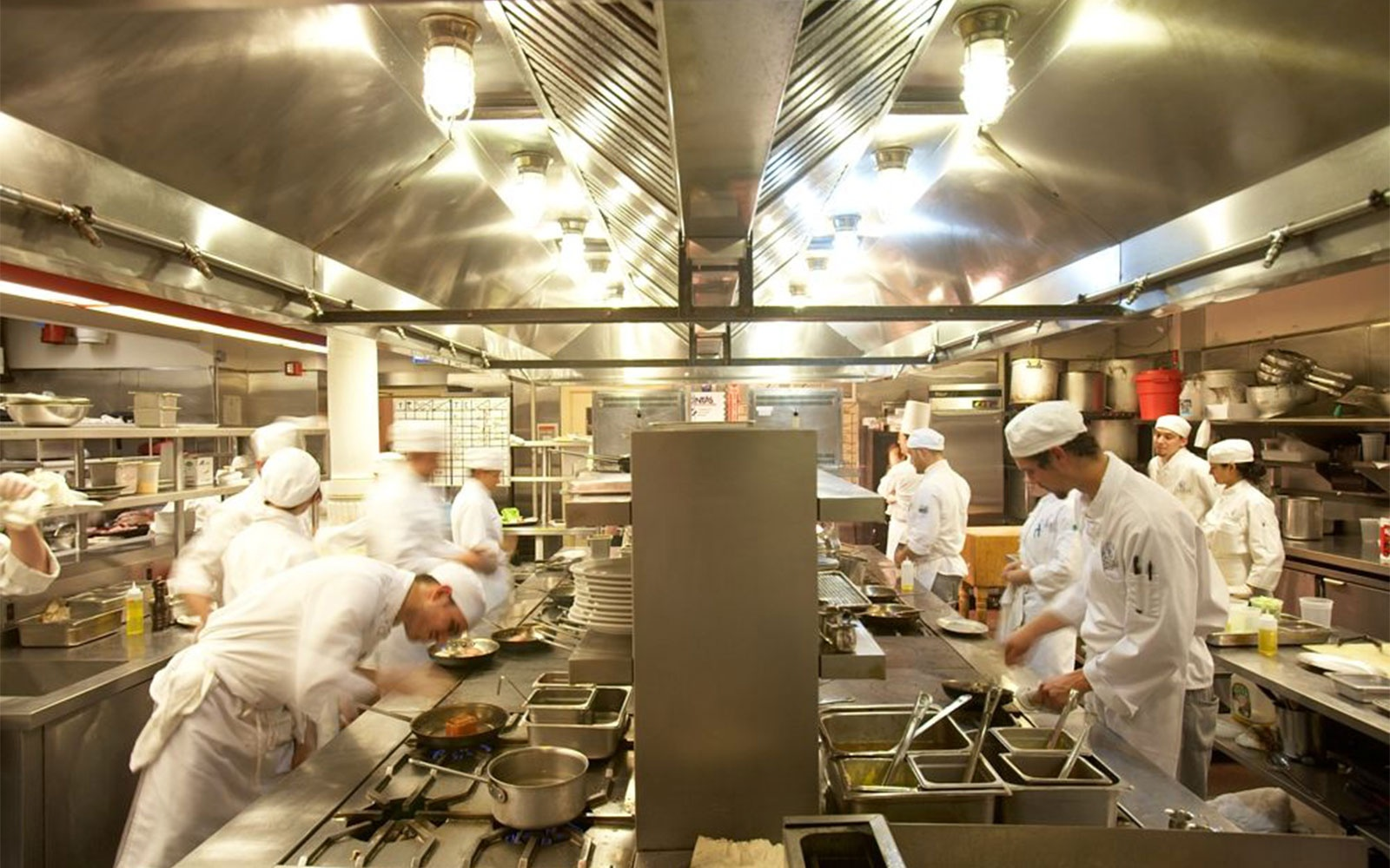 kitchen classroom at International Culinary Center, New York