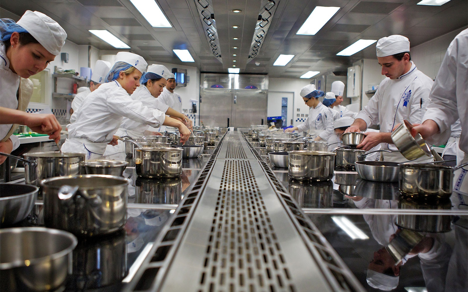 classroom at Le Cordon Bleu culinary school