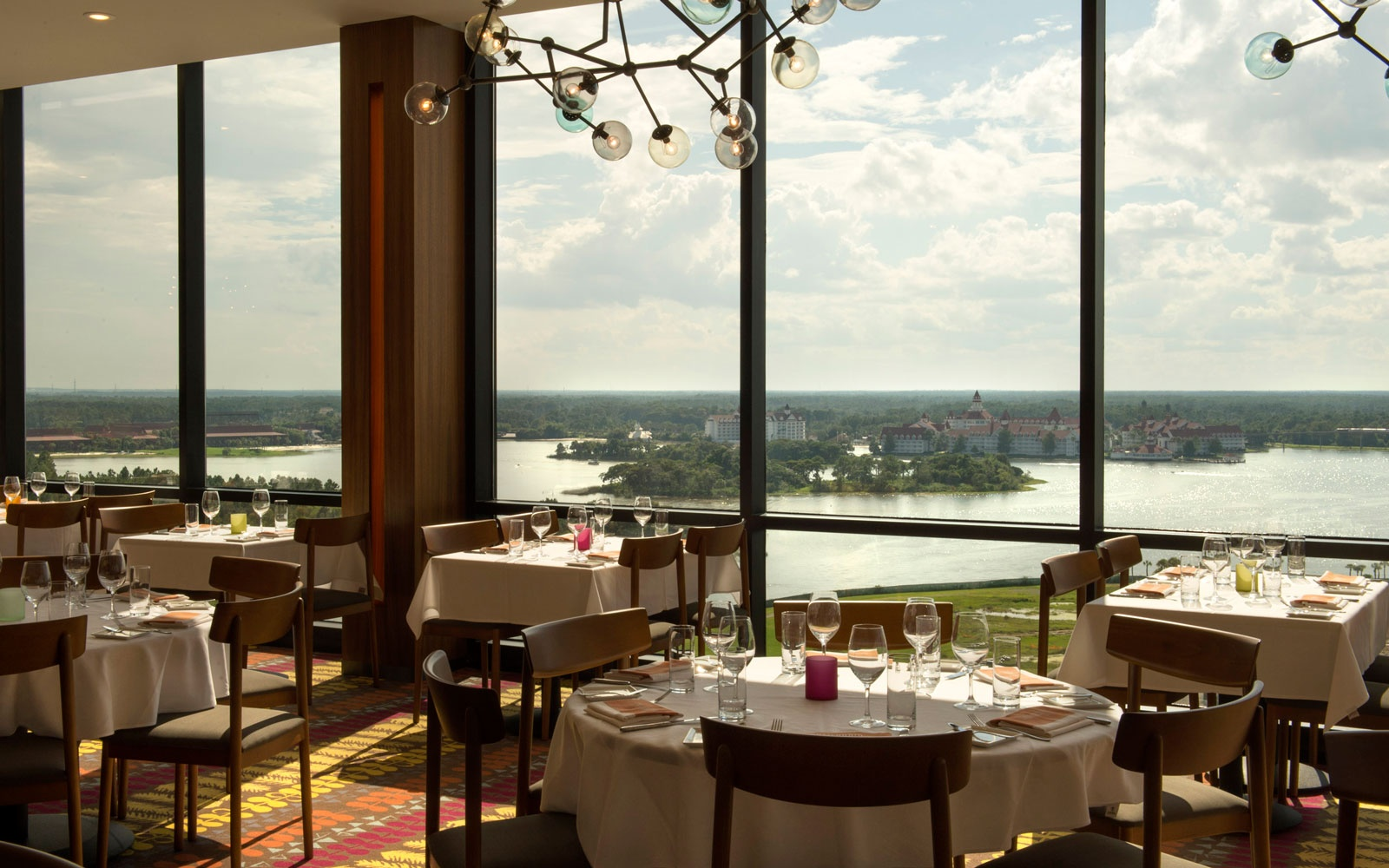 lake view from the California Grill, Contemporary Resort at Disney World, FL