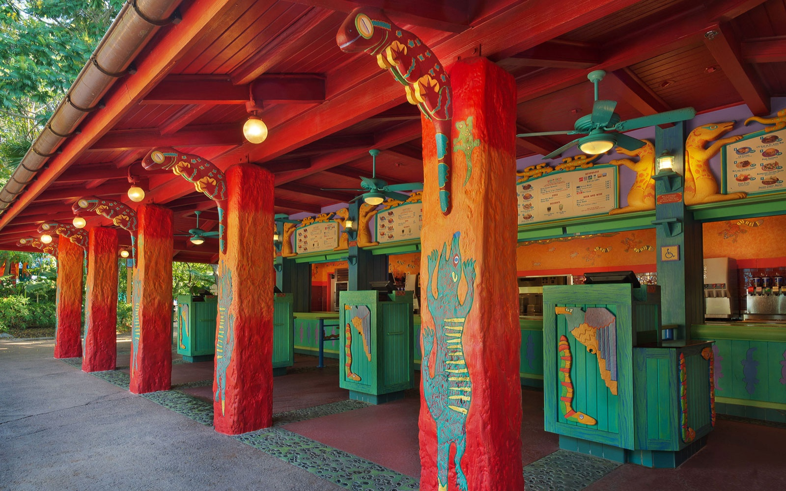 Flame Tree BBQ restaurant at Animal Kingdom Park in Disney World, FL