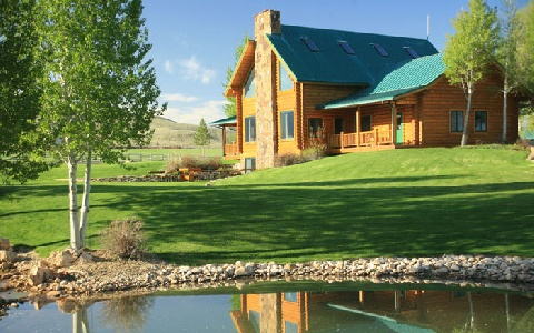 lakeside cabin in Hideout Lodge & Guest Ranch, WY