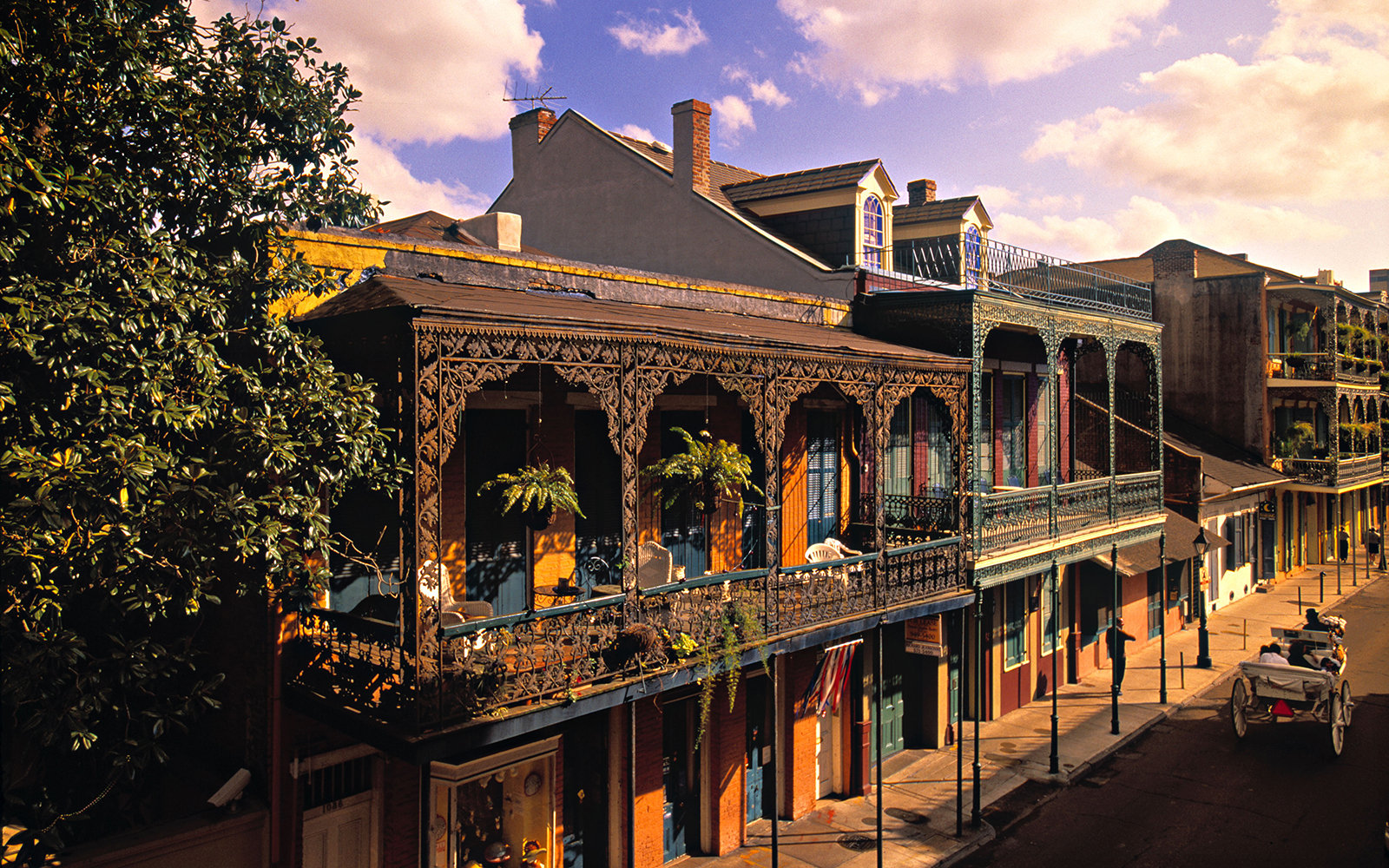 the French Quarters in New Orleans, LA