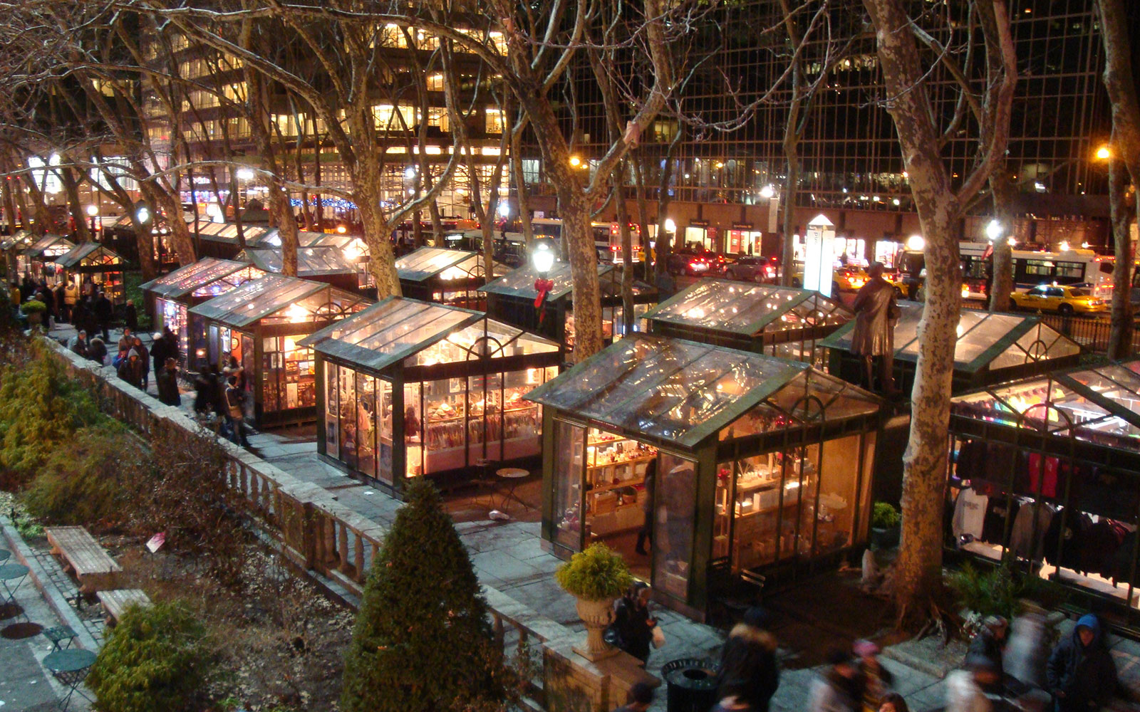 winter village at bryant park new york city