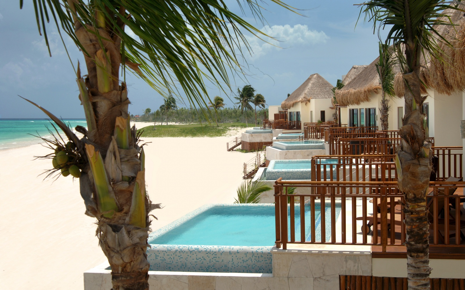 guest villas on the beach at Fairmont Mayakoba, Playa del Carmen