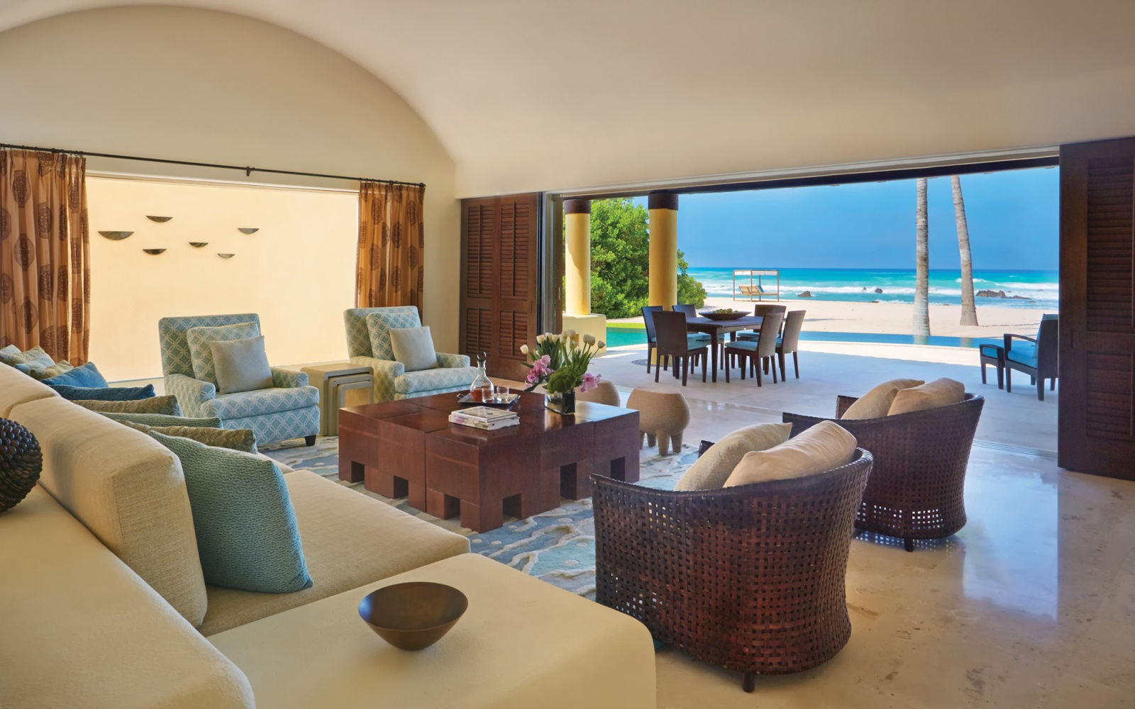 Four Seasons beach Resort in Punta Mita, Mexico