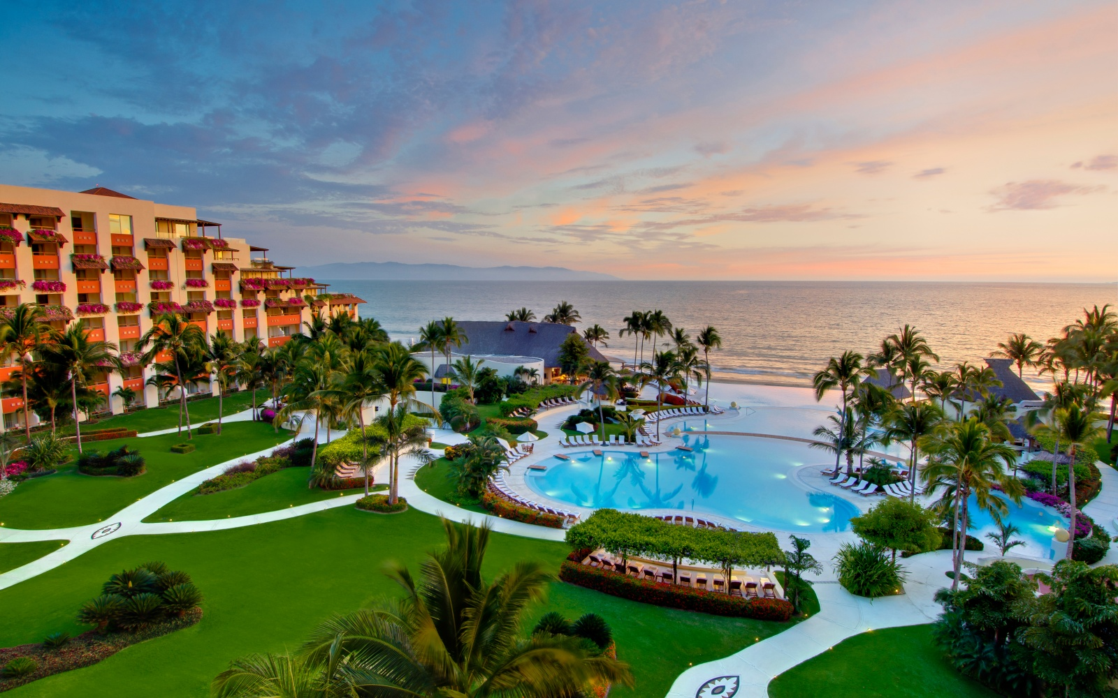pool at Grand Velas Riviera Nayarit beach resort, Nuevo Vallarta MX