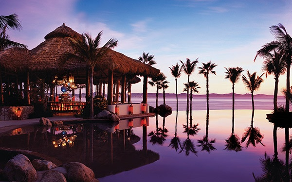Infinity Pool At Sunset OneOnly Palmilla Los Cabos Mexico