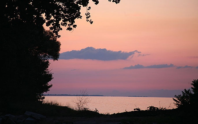 sunset over Lake Erie, MI