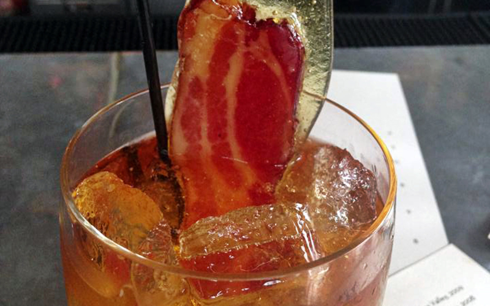 Bacon Cocktail: Grange Restaurant & Bar, Sacramento, CA