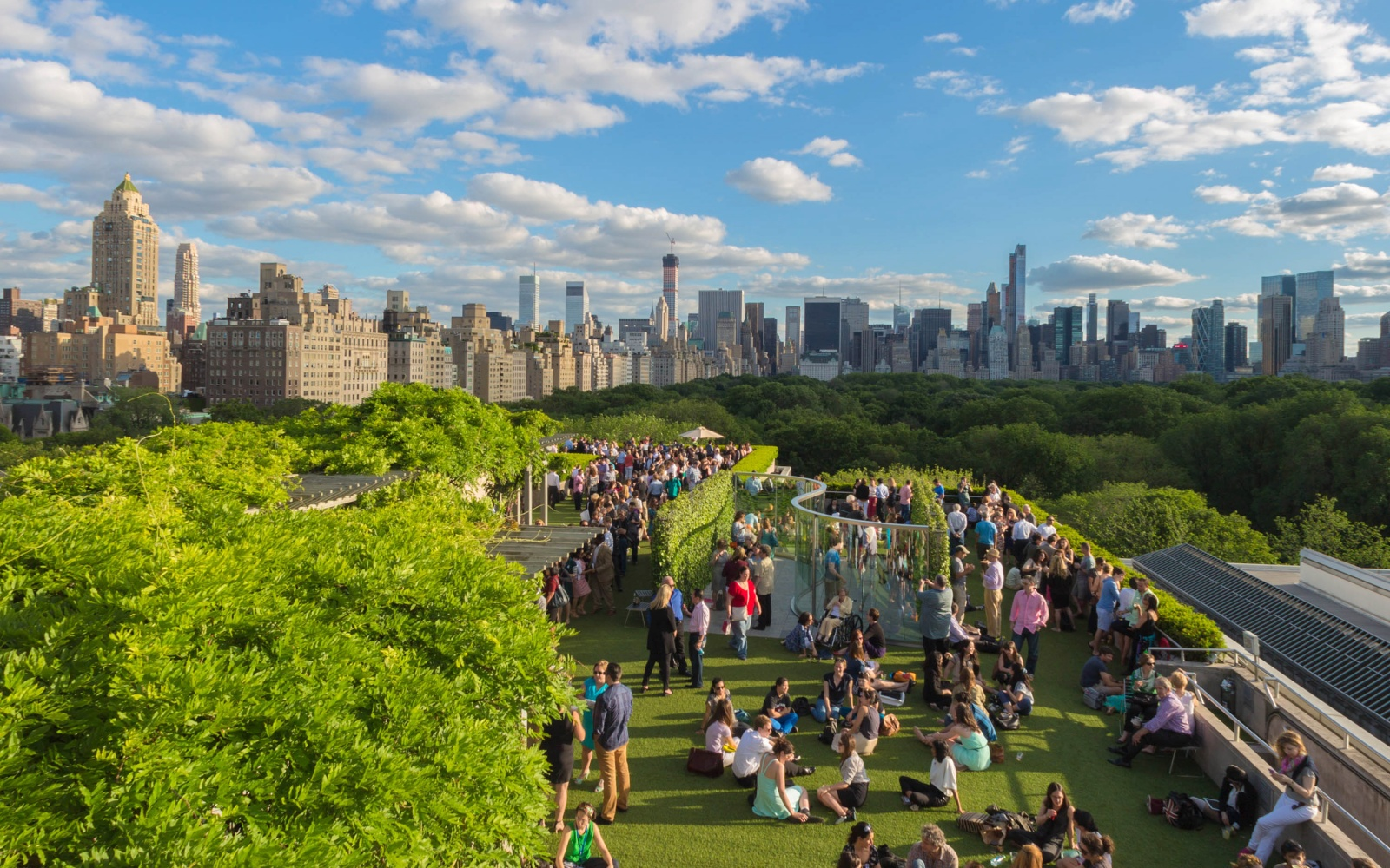 Marvelous Rooftop Garden And Martini Café At The Metropolitan Museum Of Art